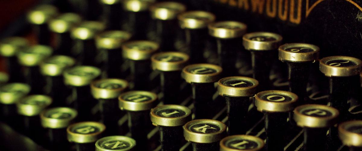 typewriter typographie branding