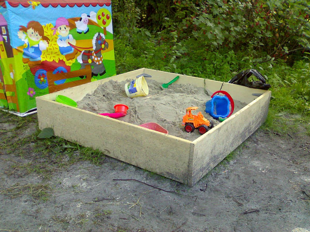 Carré de sable pour faire allusion à l'analogie