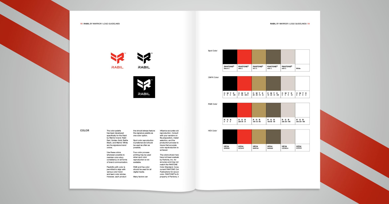 Exemle de présentation des couleurs et des logos dans une charte graphique