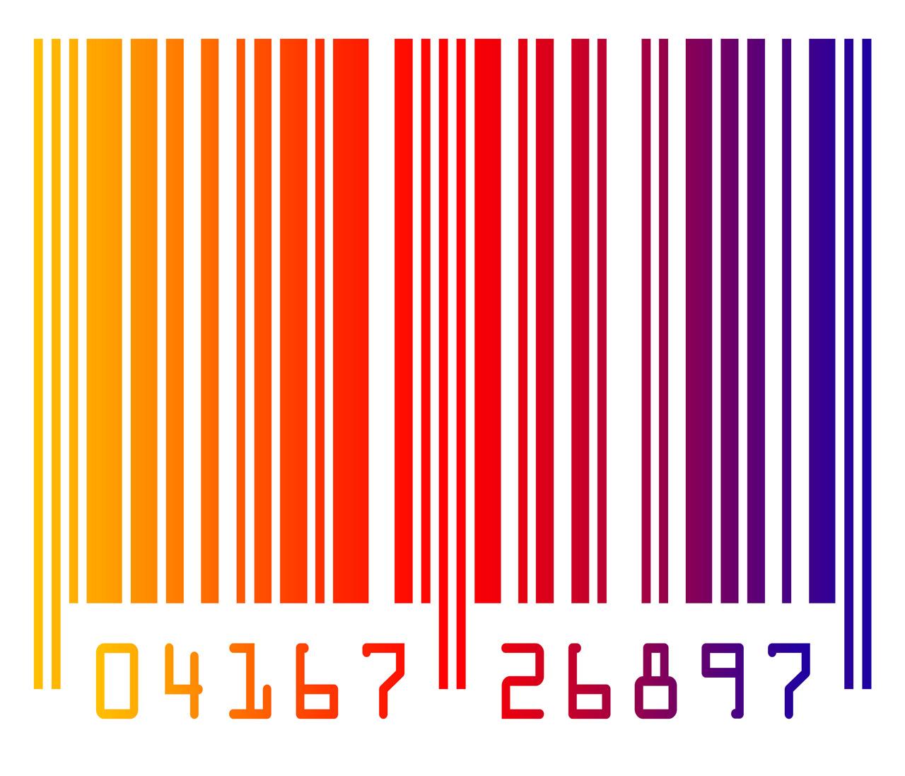 code barre multicolore