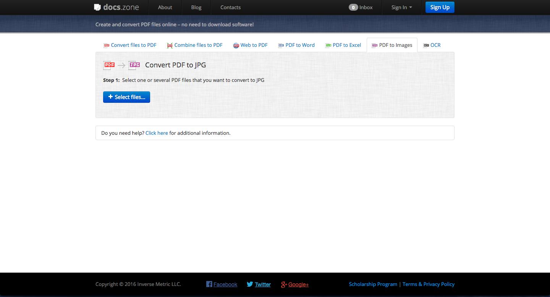 convertir un pdf en jpg docszone