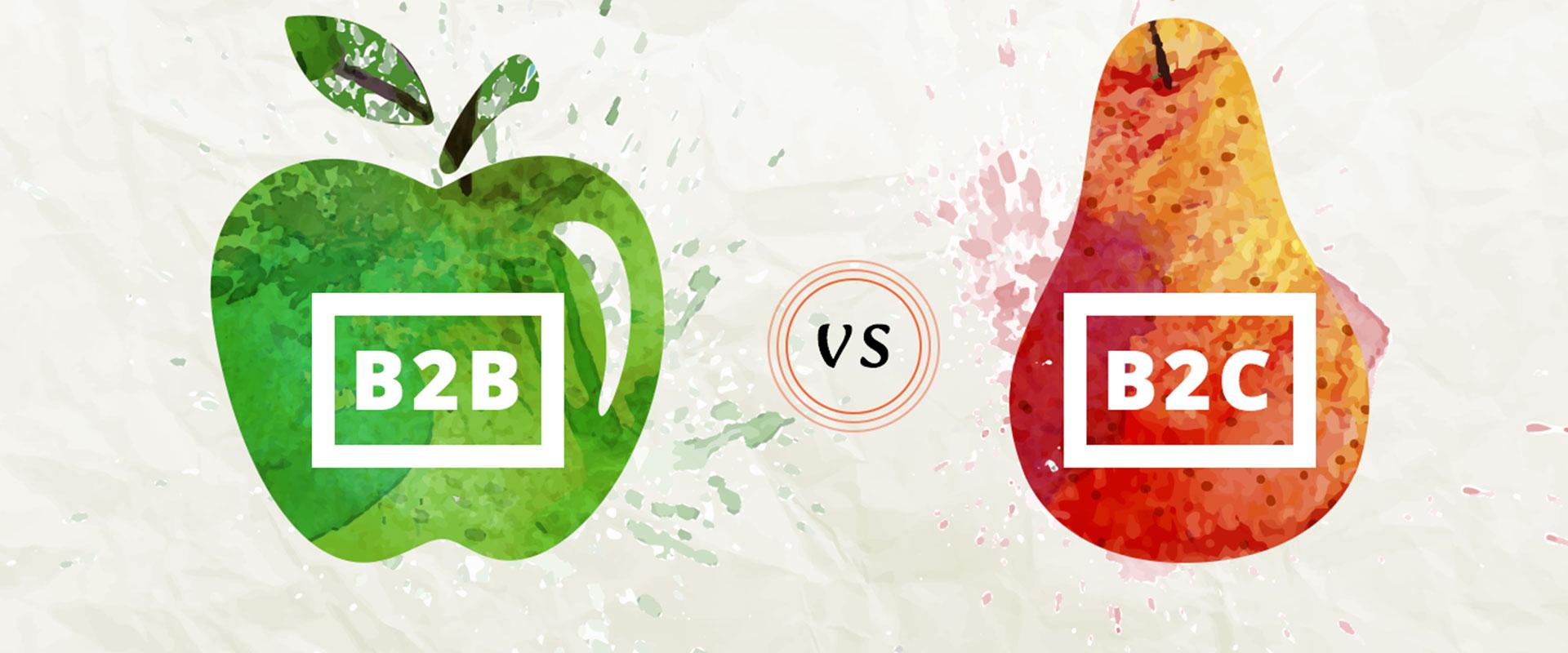 illustration B2B vs B2C