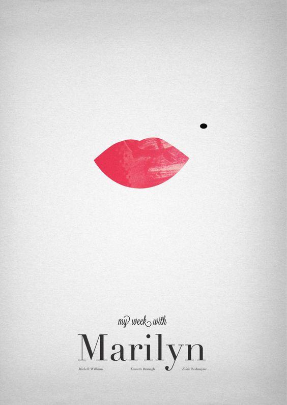 Des simples lèvres avec un point noir au dessus, qui font directement penser à Marylin Monroe, titre du livre