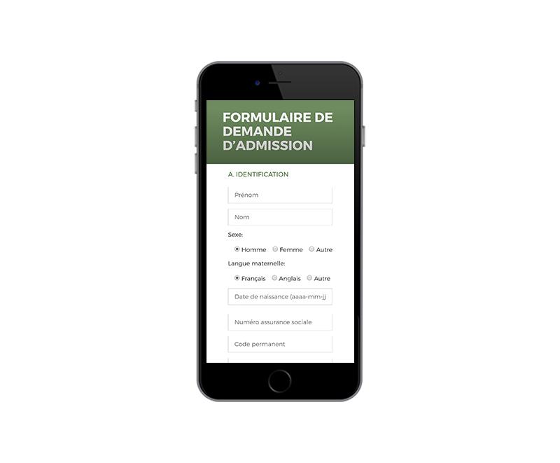 Formulaire ESJQ mobile