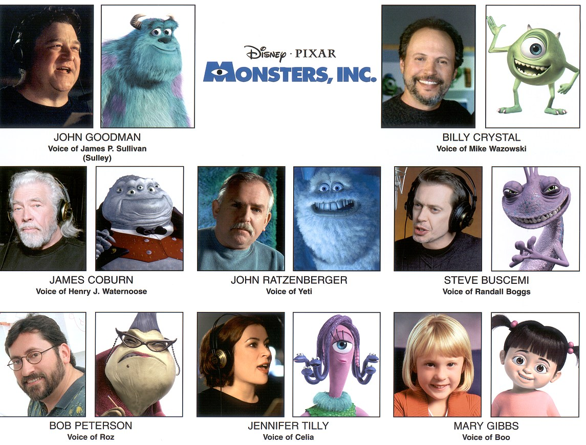 monsters inc voices