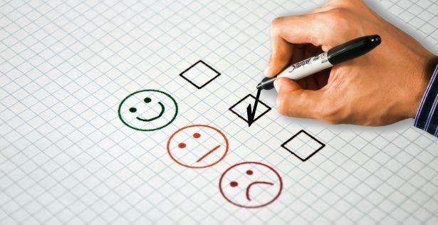 Photo représentant un sondage de satisfaction
