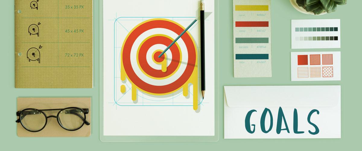 Illustration avec une cible et des outils pour y parvenir