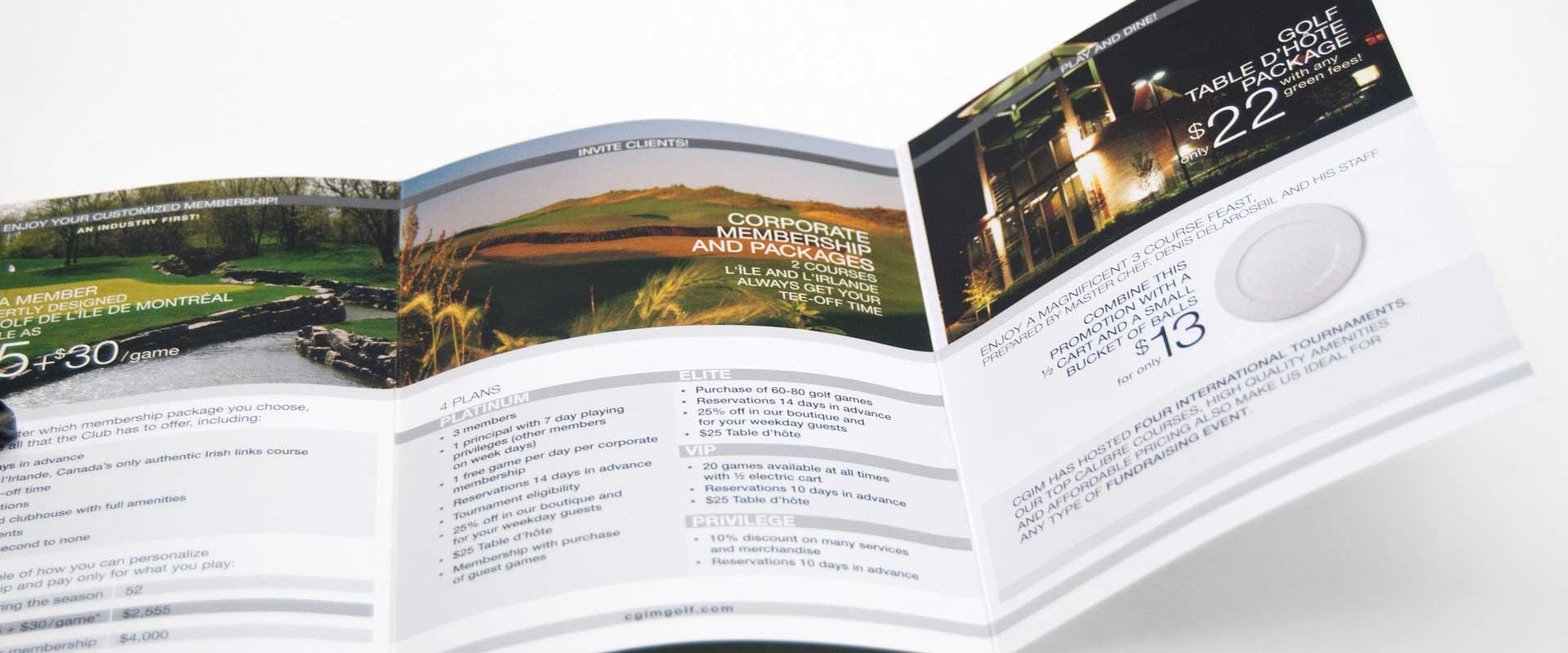 Brochure corporative dépliée