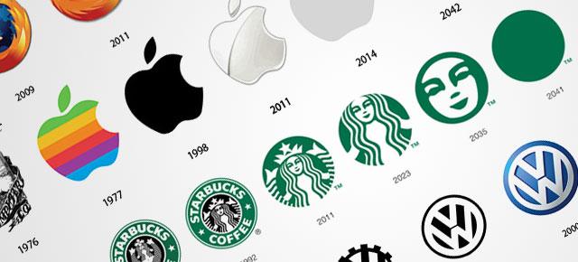 les logos de Apple et Starbucks déclinés